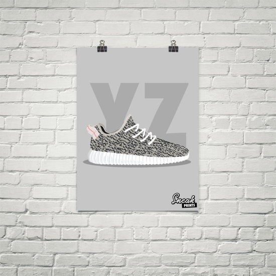 reputable site dc8c9 afd87 Yeezy Boost 350 Turtle Dove SneakPrints Poster (Unframed)