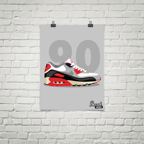 Air Max 90 Infrared SneakPrints Poster