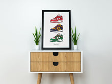 "Dunk Low ""Off-White"" Collage SneakPrints Poster"