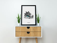"Nike Air Monarch ""Atmos"" Custom SneakPrints Poster"