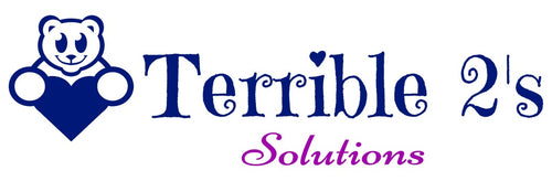 Terrible 2's Solutions Logo with Bear holding blue heart