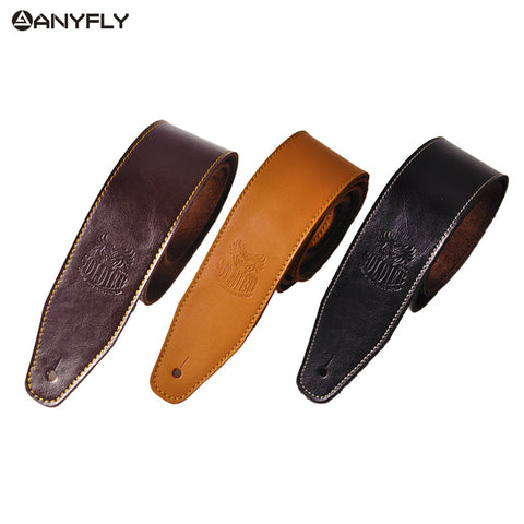 Leather Guitar and Bass Strap