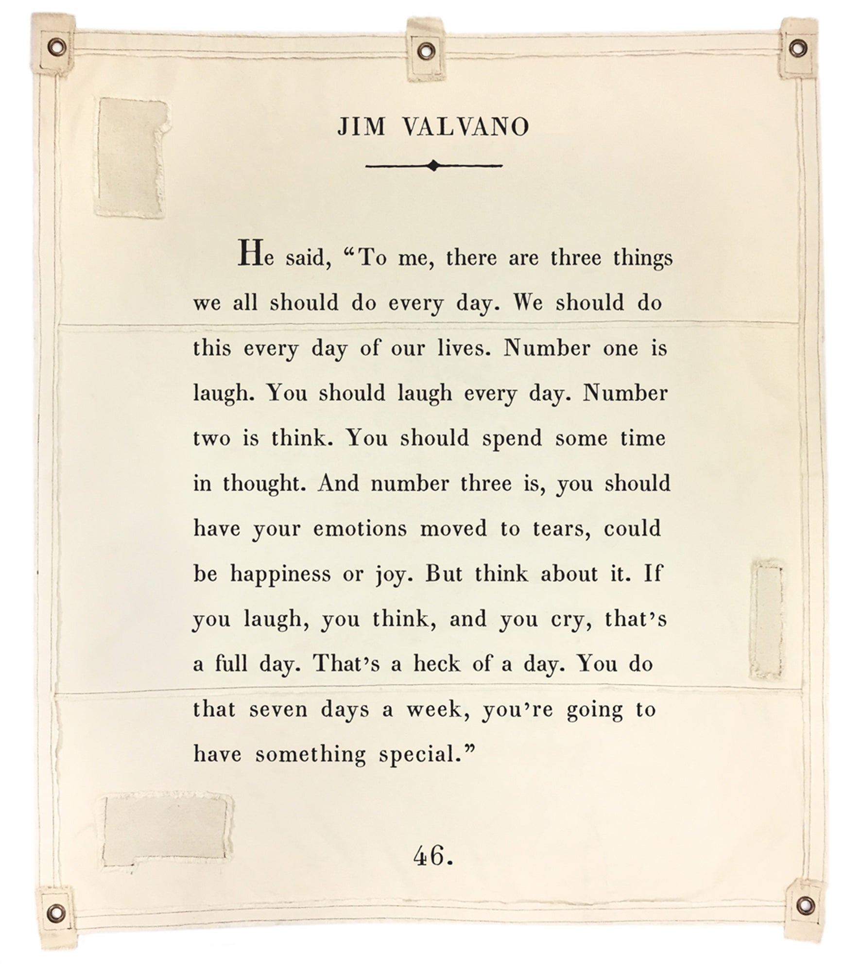 Jim Valvano Wall Tarp