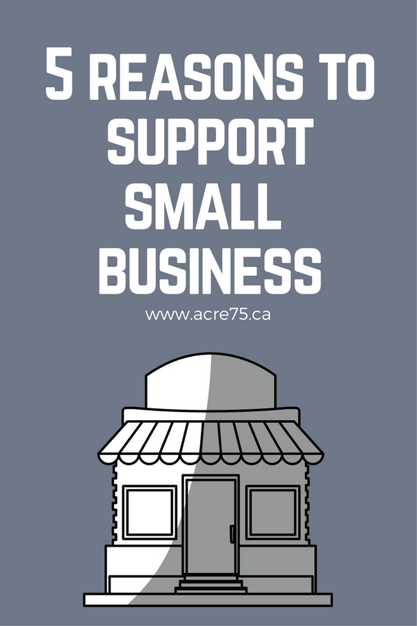 Five Reasons to Support Small Business