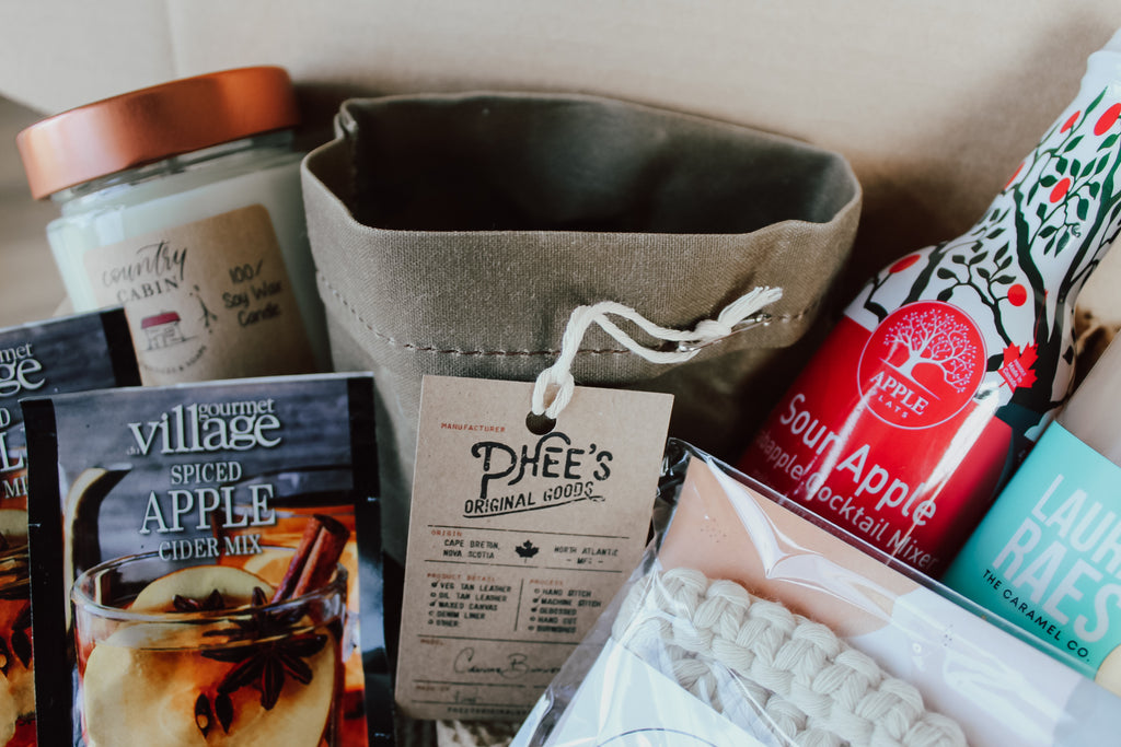Phee's Original Goods Canvas Bucket - Acre75 Gathered Canadian Subscription Box