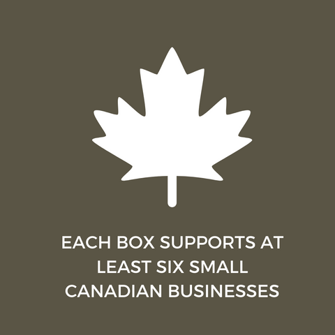 EACH BOX SUPPORTS AT LEAST SIX SMALL CANADIAN BUSINESSES