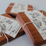 Leather Coasters - Sydney, N.S.