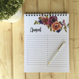 August Large Floral Perpetual Calendar - Fort Saskatchewan, AB