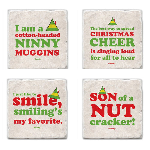 Buddy the Elf Coasters, Unique Canadian Christmas Gift Idea