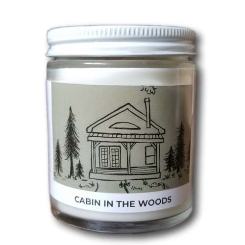 Cabin In The Woods Acre75.ca Essential Oil Candle. Handpoured in Baden, Ontario, Canada.