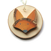 Fox Wooden Ornament - Walters Falls, ON