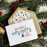Handmade Christmas Card, Made in Canada