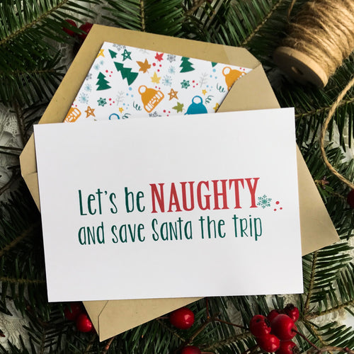 Naughty Christmas Card, Made in Canada