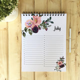July Large Floral Perpetual Calendar - Fort Saskatchewan, AB