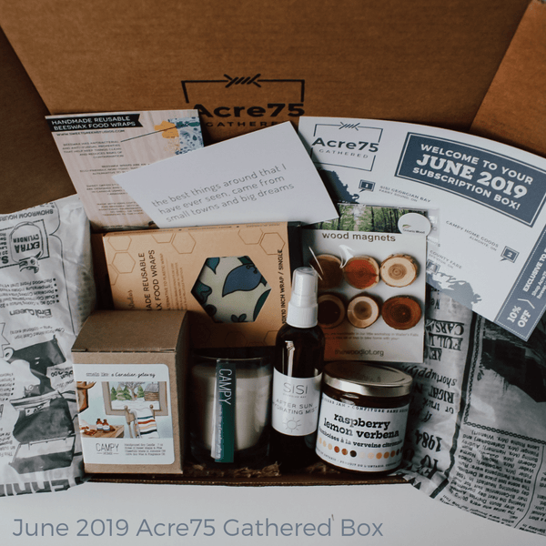 Acre75 Gathered Canadian Subscription Box - June 2019