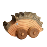Wooden Hedgehog Car Toy, Made in Canada Baby Gift