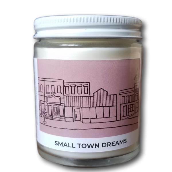 Small Town Dreams Acre75.ca Essential Oil Candle. Handpoured in Baden, Ontario, Canada.