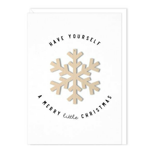 Snowflake Ornament Card