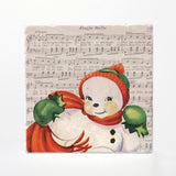 Vintage Christmas Coasters, Made in Canada