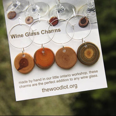Wooden Wine Charms - Walters Falls, ON