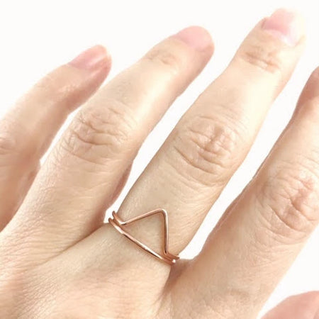 14K Rose Gold Filled Chevron/Mountain Ring - Saanich, B.C.