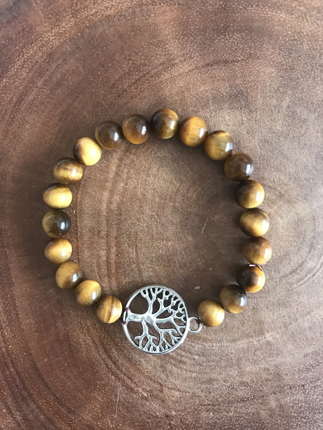 Tree of Life Tiger's Eye Bracelet