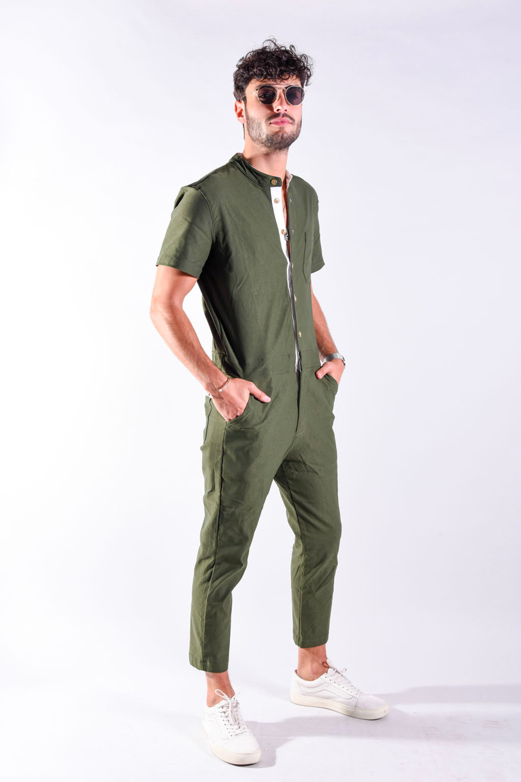Olive rompsuit [Final Sale]