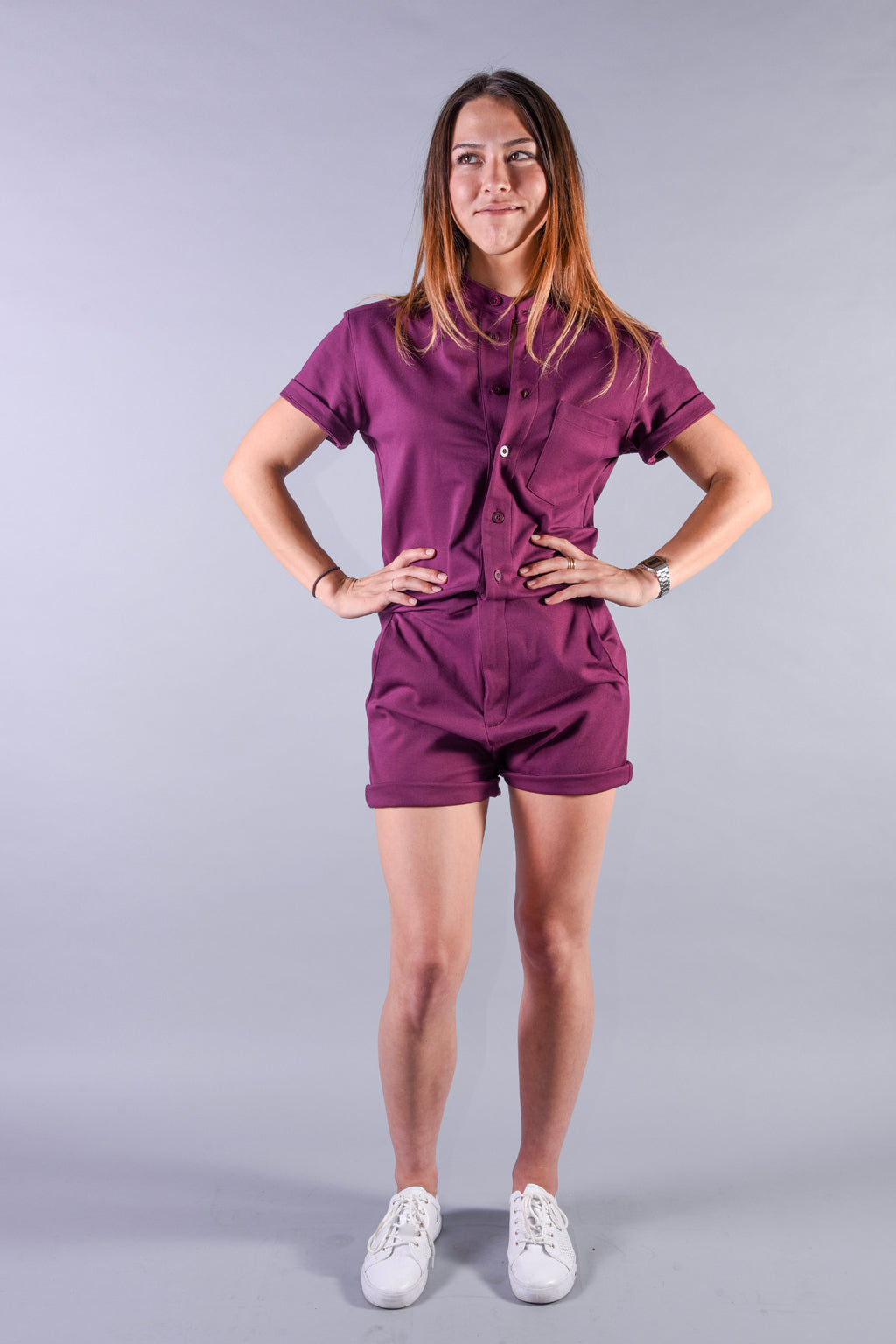 Plum Purple romper [Final Sale]