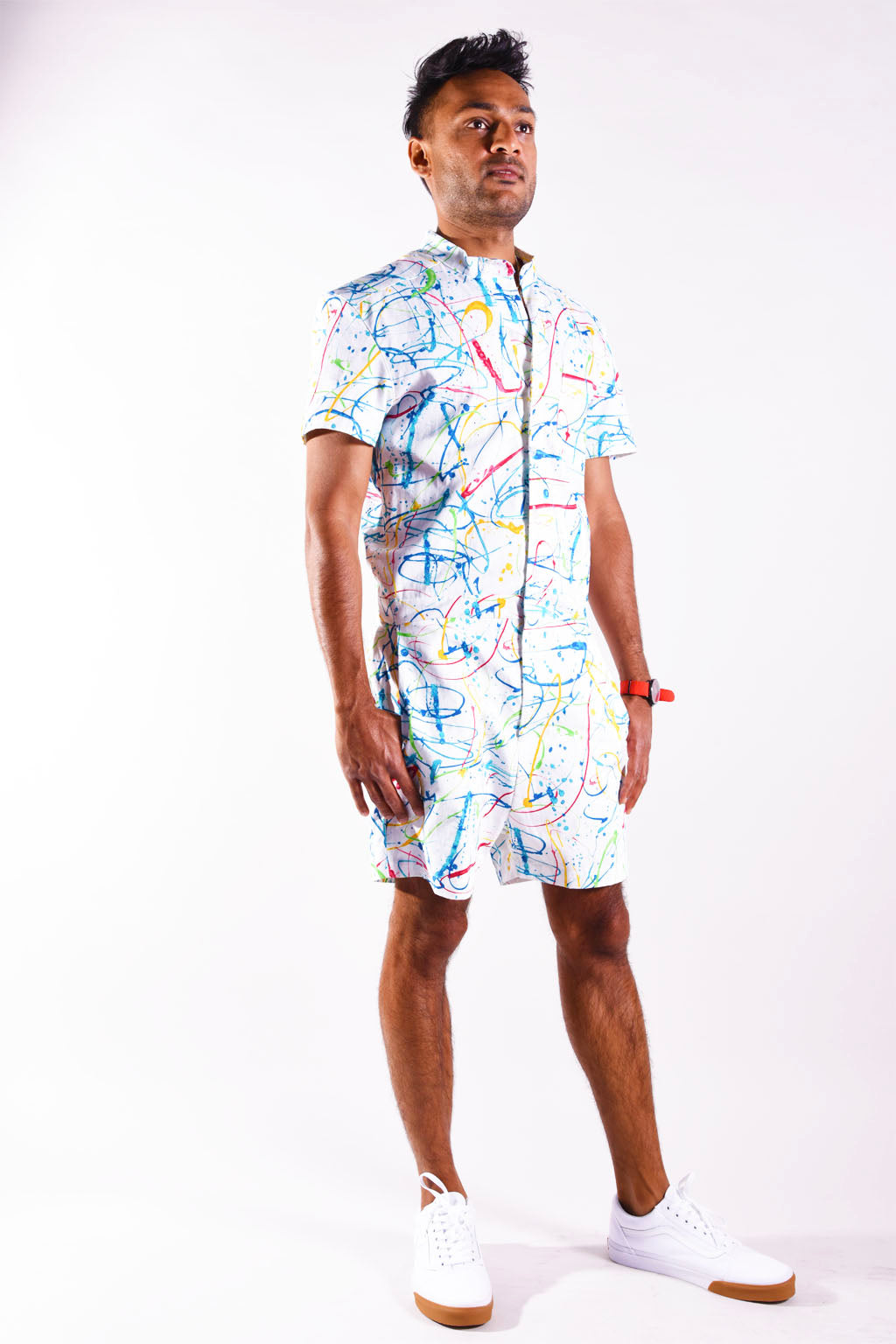 Splatter Print romper [Final Sale]