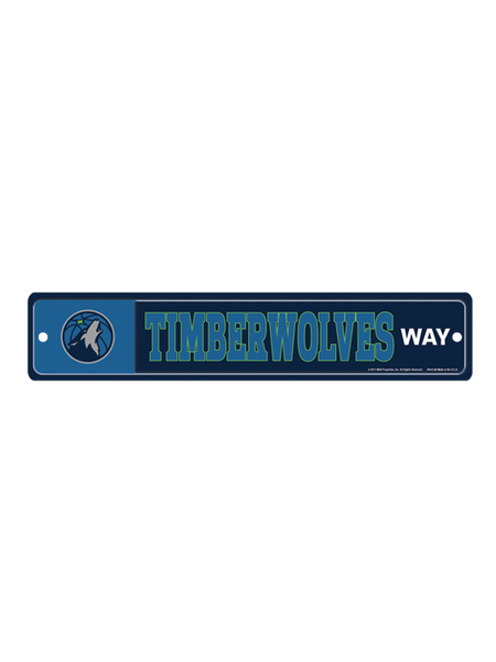 Minnesota Timberwolves Street Zone Sign