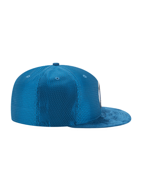 Minnesota Timberwolves On Court Reverse Lux Mesh Faux Suede Fit Cap - Timberwolves Team Store