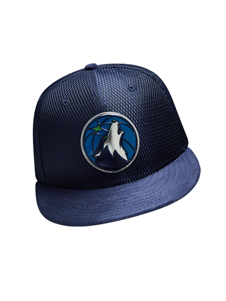 Minnesota Timberwolves 2017 Draft 5950 On Court Mesh Suede Fitted Cap - Royal