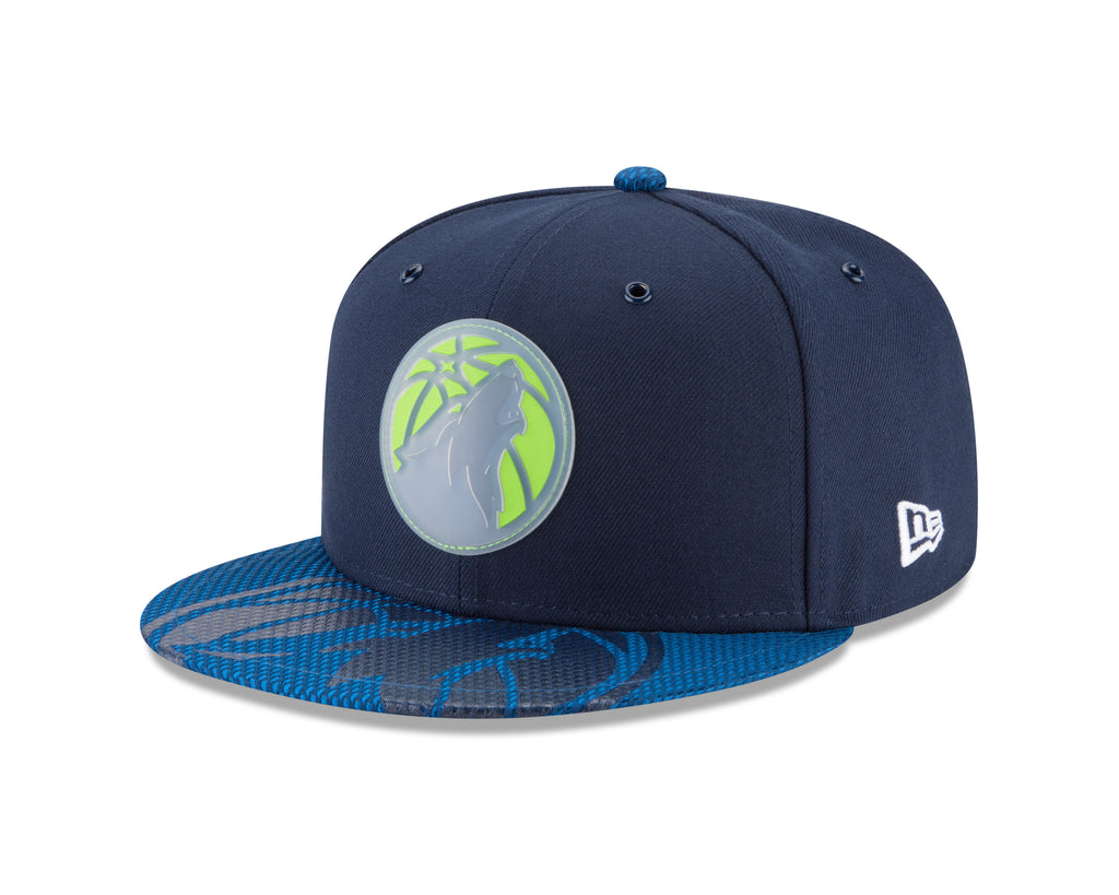 Minnesota Timberwolves On Court 9FIFTY Rubber Logo Team Snapback - Timberwolves Team Store