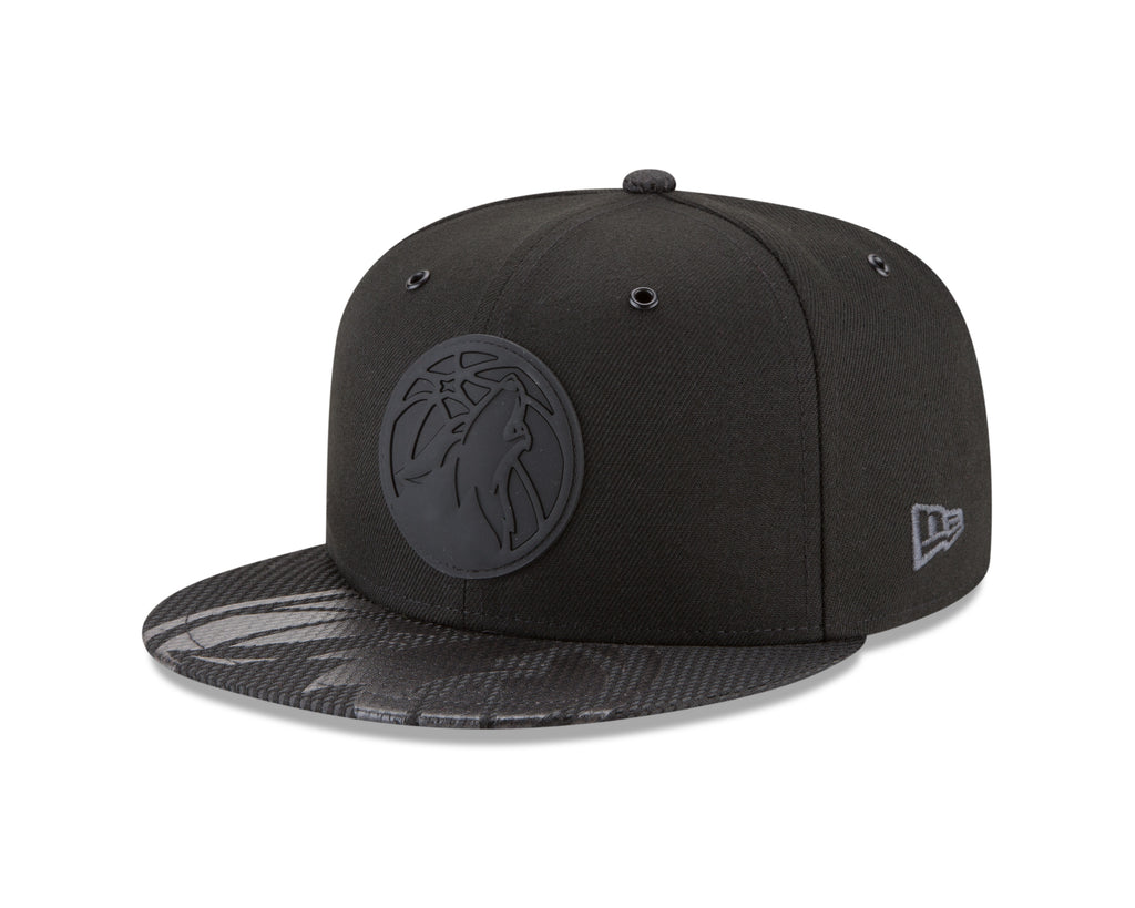 713c8a1749f Minnesota Timberwolves On Court 9FIFTY Rubber Logo Team Snapback - Black