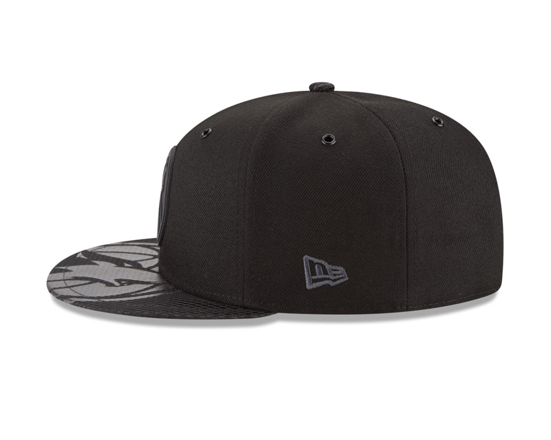 Minnesota Timberwolves On Court 9FIFTY Rubber Logo Team Snapback - Black