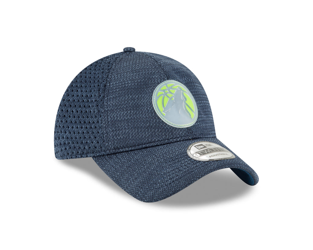 Minnesota Timberwolves On Court 9TWENTY Team Adjustable Cap - Navy