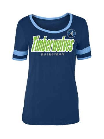 Minnesota Timberwolves Women's Flip Long Sleeve T-Shirt - Grey