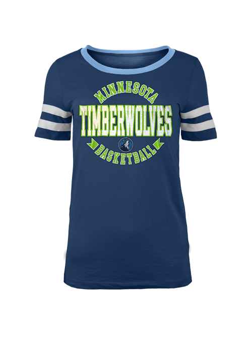 Minnesota Timberwolves Women's Slub Jersey Scoop Neck T-Shirt - Timberwolves Team Store