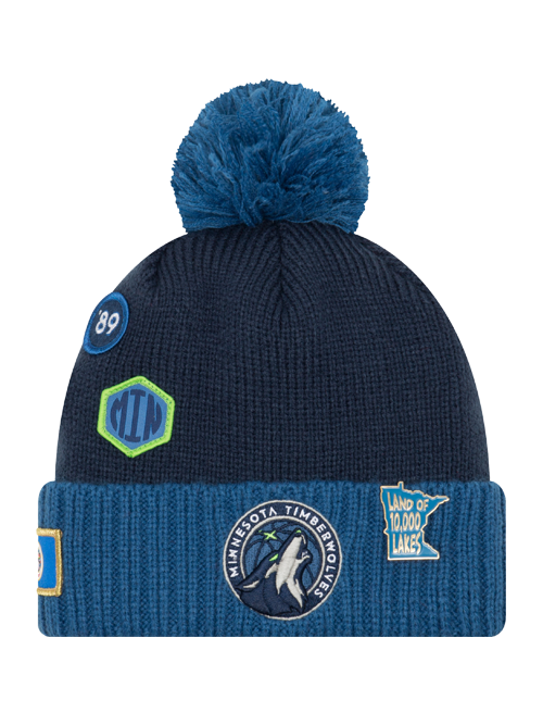 Minnesota Timberwolves 2018 Draft Two Tone Pom Knit