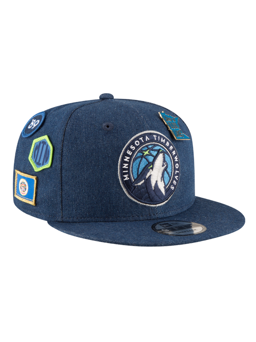 Minnesota Timberwolves 2018 Draft 9FIFTY Denim Snapback Cap - Timberwolves Team Store
