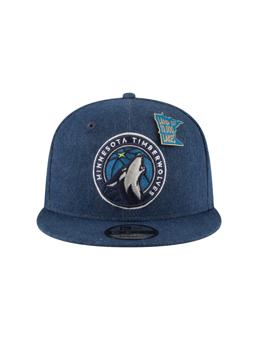 Minnesota Timberwolves 2018 Draft 9FIFTY Denim Snapback Cap