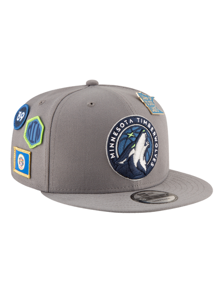 Minnesota Timberwolves 2018 Draft 9FIFTY Gray Snapback Cap