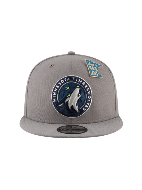 Minnesota Timberwolves 2018 Draft 9FIFTY Gray Snapback Cap - Timberwolves Team Store