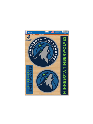Minnesota Timberwolves 11x17 Multi Use Decal