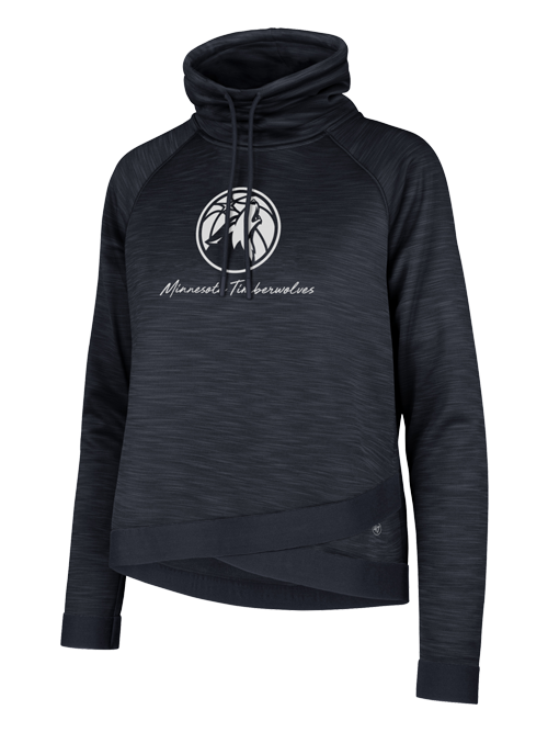 Minnesota Timberwolves Women's Funnel Neck Communter Hoodie - Timberwolves Team Store