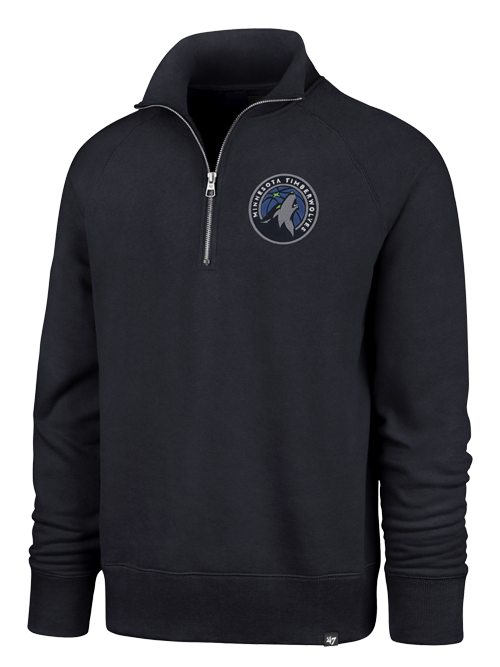 Minnesota Timberwolves Quarter Zip Headline Global Fleece - Timberwolves Team Store