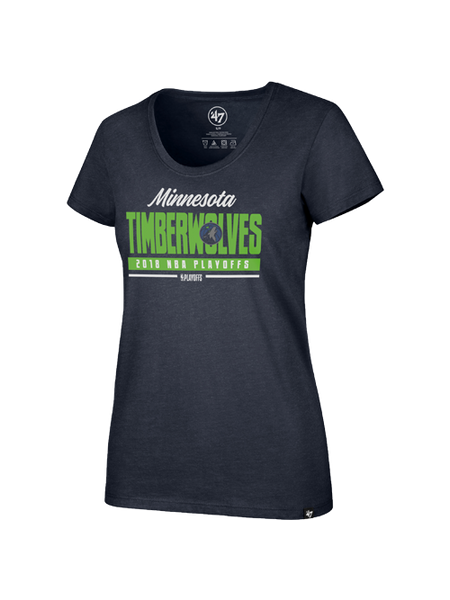 Minnesota Timberwolves Women's Playoffs Club Scoop T-Shirt
