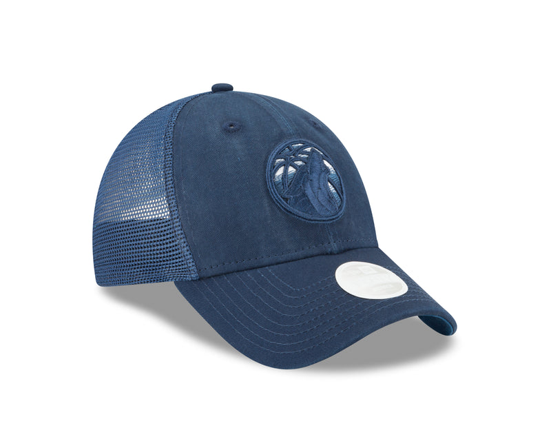 Minnesota Timberwolves Women's 9TWENTY  Faded Front Trucker Adjustable Cap - Timberwolves Team Store
