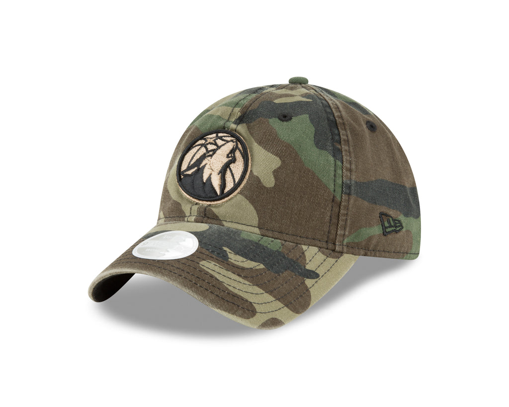 Minnesota Timberwolves Women's 9TWENTY Camo Team Logo Adjustable Cap