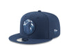 Minnesota Timberwolves On Court 9FIFTY Rubber Logo Team Snapback - Gray